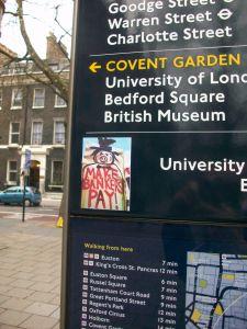 Legible London monolith with artwork