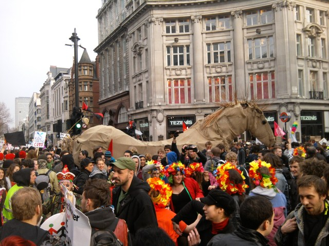 New diagonal crossing is hailed a success as a party takes place in the middle of Oxford Circus