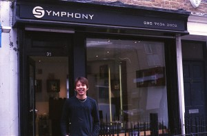 Thanh outside Symphony Hair Beauty and Wedding Services