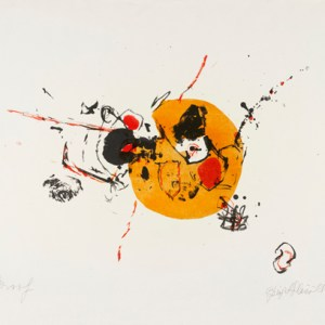 Madison summer, lithograph by Birgit Skiöld, 1964, Archive of Art & Design AAD/1997/18 (part), given by the Birgit Skiöld Memorial Trust