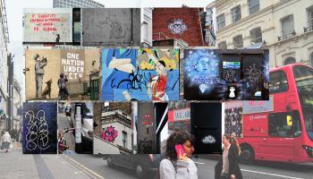 Collage of graffiti.