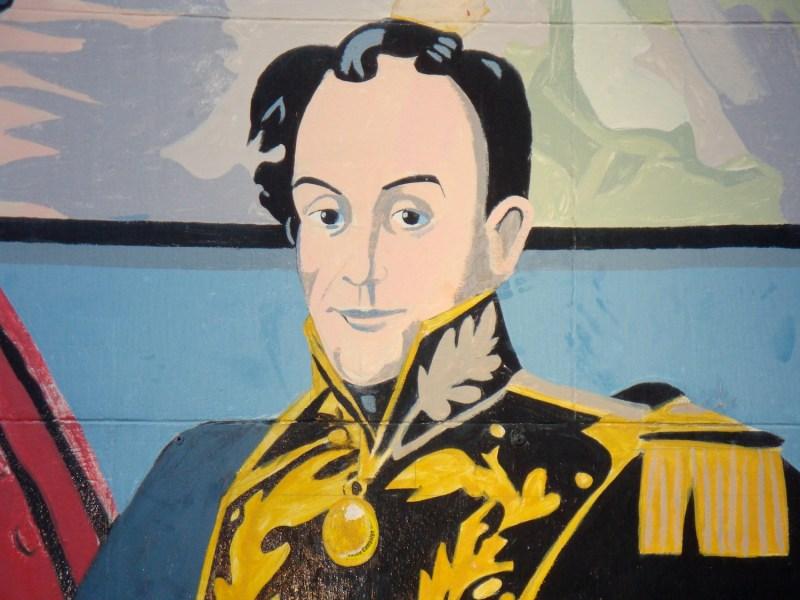 Painting of Simon Bolivar.