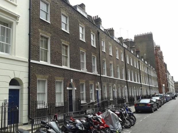 Row of Georgian houses.