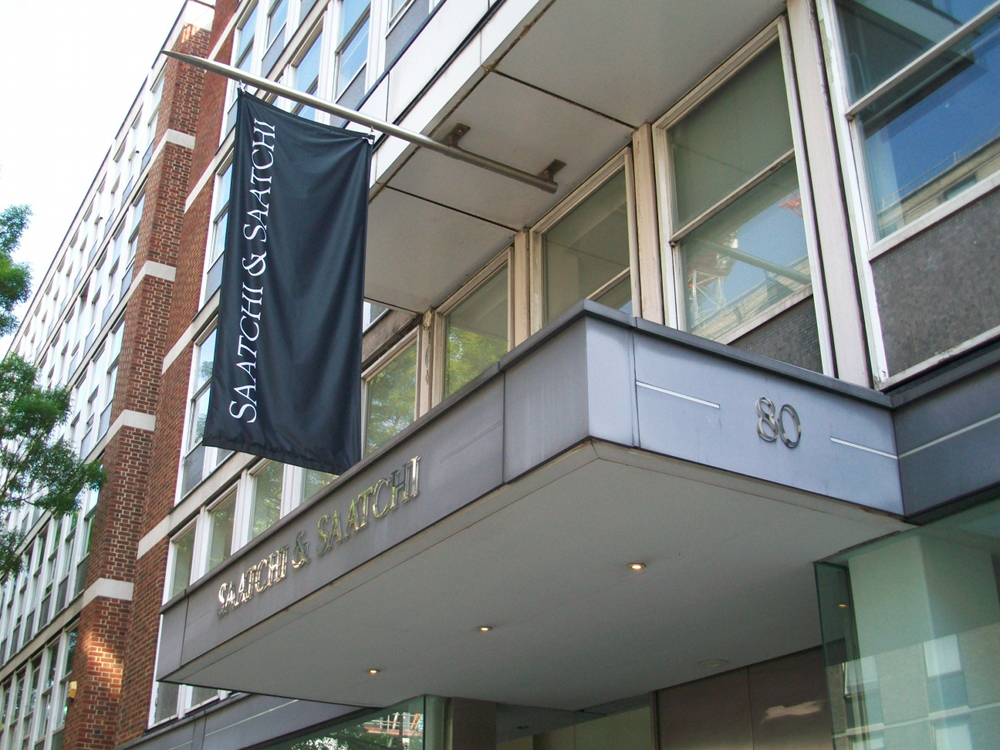 Front of Saatchi & Saatchi building on Charlotte Street.