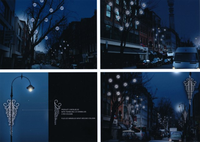 Illustration of lighting in trees.