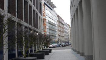 View of buildings in Berners Street.