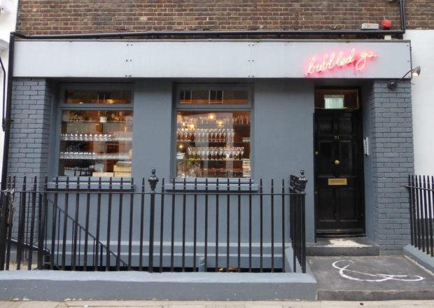Front of restaurant in Charlotte Street.