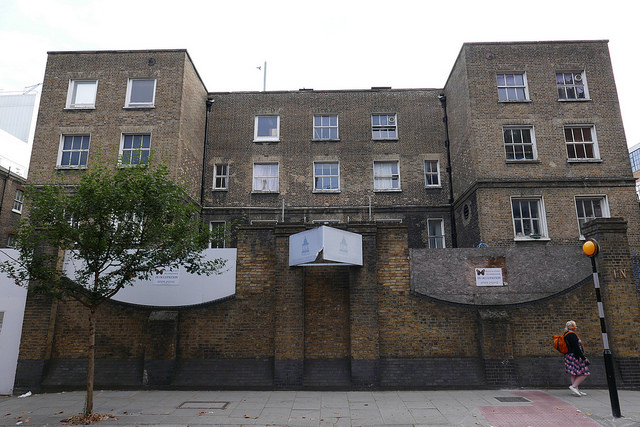 Front of workhouse building.