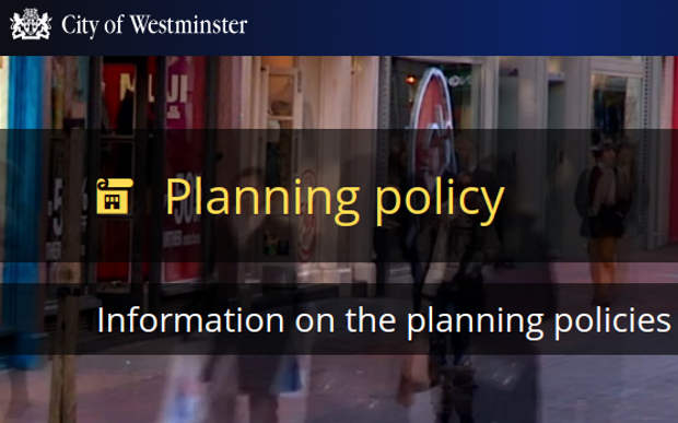 Westminster council planning policy image.