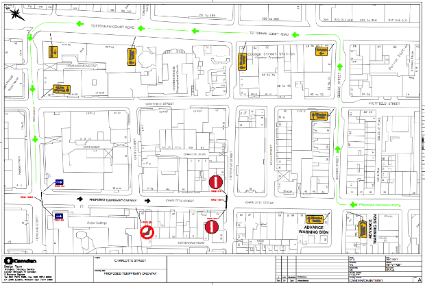 Map of proposed one-way street.
