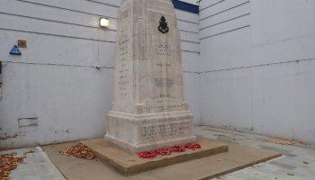 Stone monument.