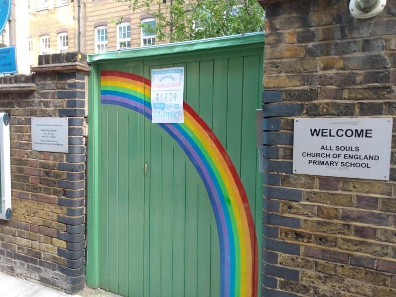 School gates.