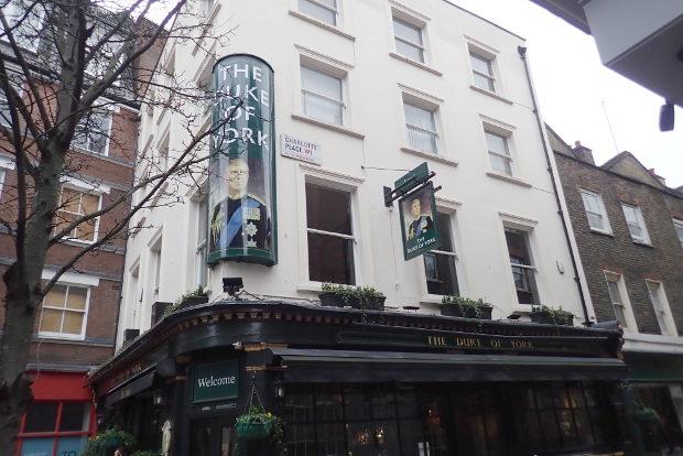 Duke of York pub signs.