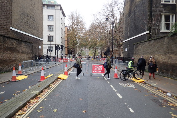 Torrington Place closed.