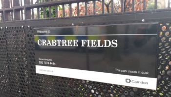 Crabtree Fields sign.
