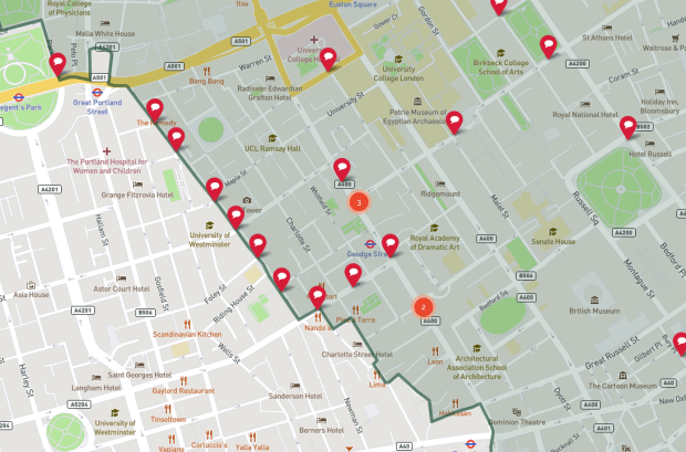 Fitzrovia safer streets map.