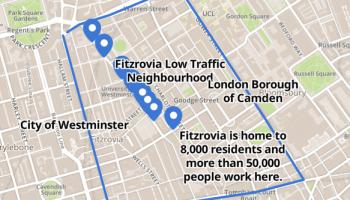 Map of low traffic neighbourhood.