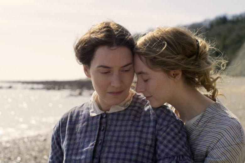 Actors on a Dorset beach.