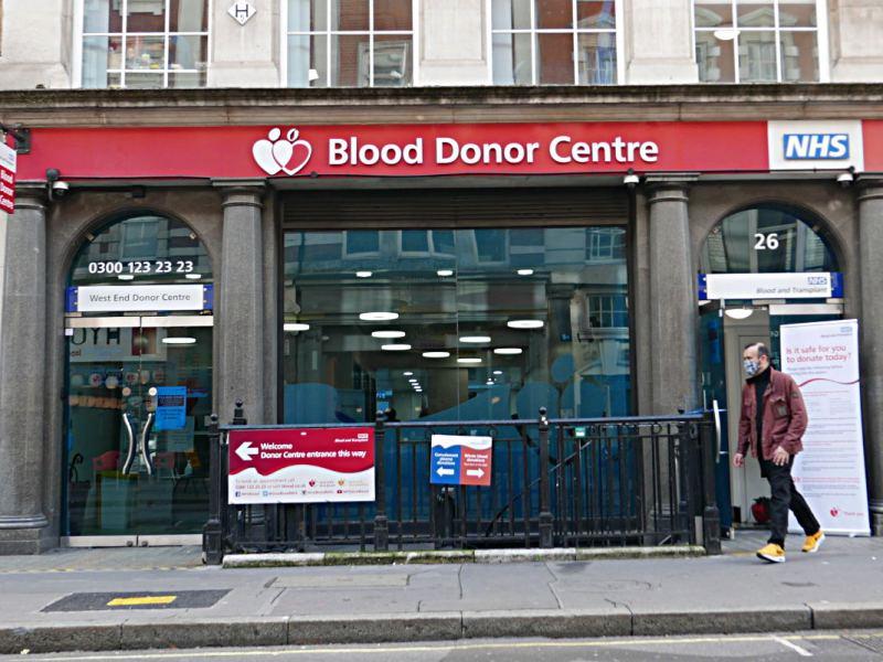 Blood donor centre, Margaret Street, fitzrovia.