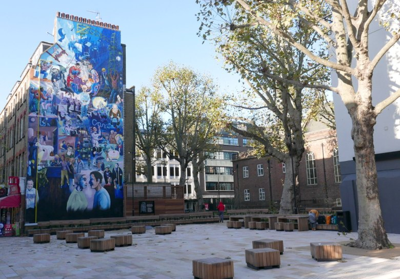 Mural and public open space.