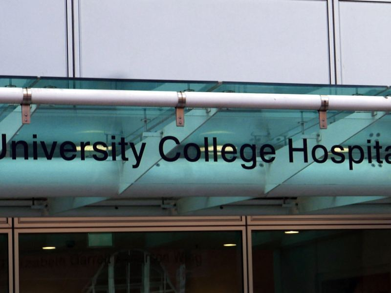 Univeristy College Hospital sign.