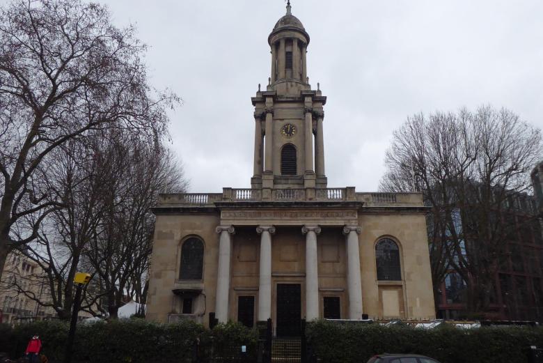 Former Holy Trinity Church at 1 Marylebone Road.