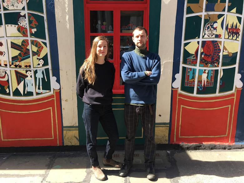 Emily Baker and Jack Fawdry