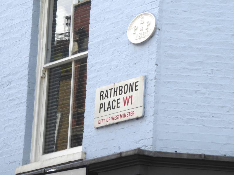 Rathbone Place street sign.