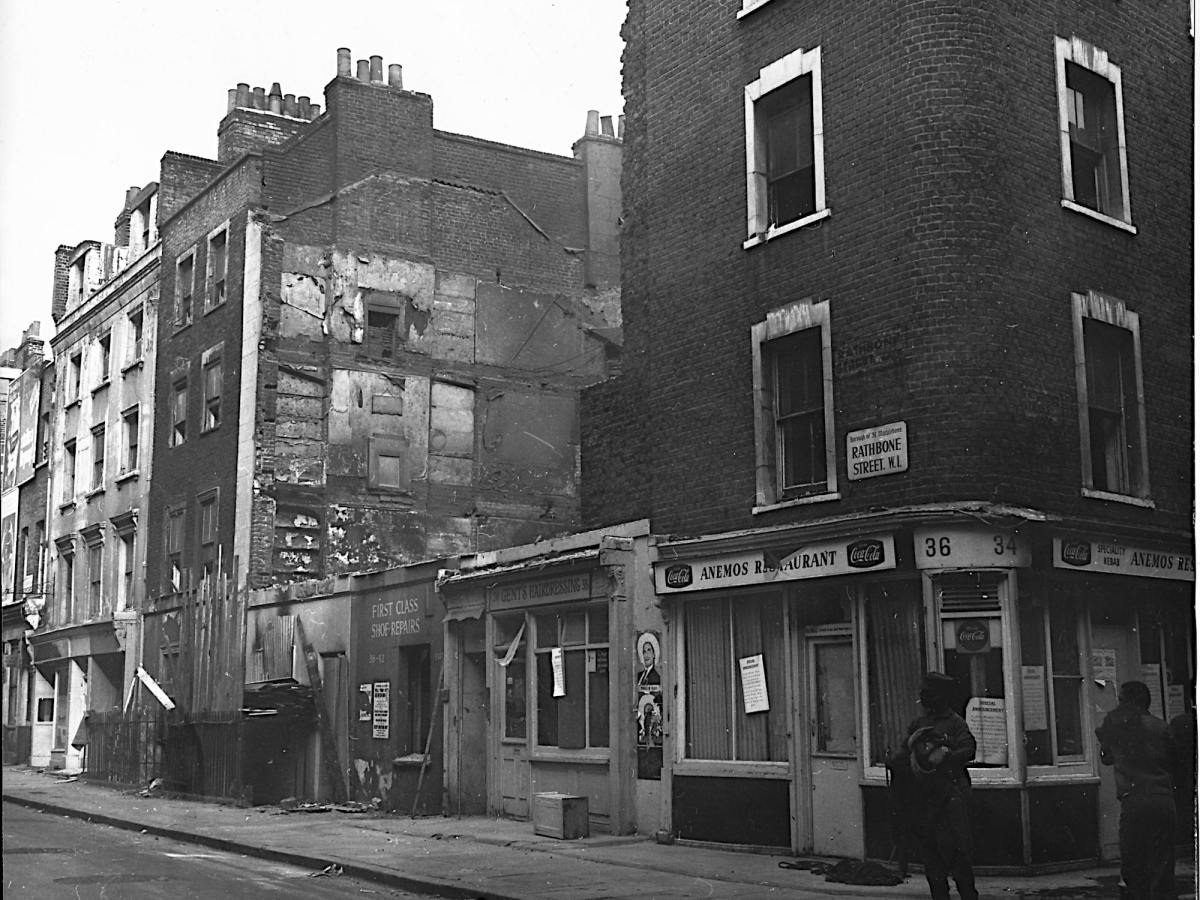 Old photo of Rathbone Street.