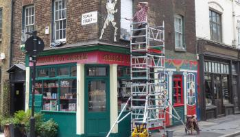 Jack Fawdry-Tatham posing on scaffolding.