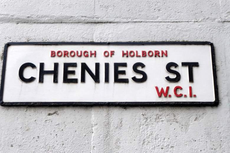 Chenies Street, Borough of Holborn street sign.