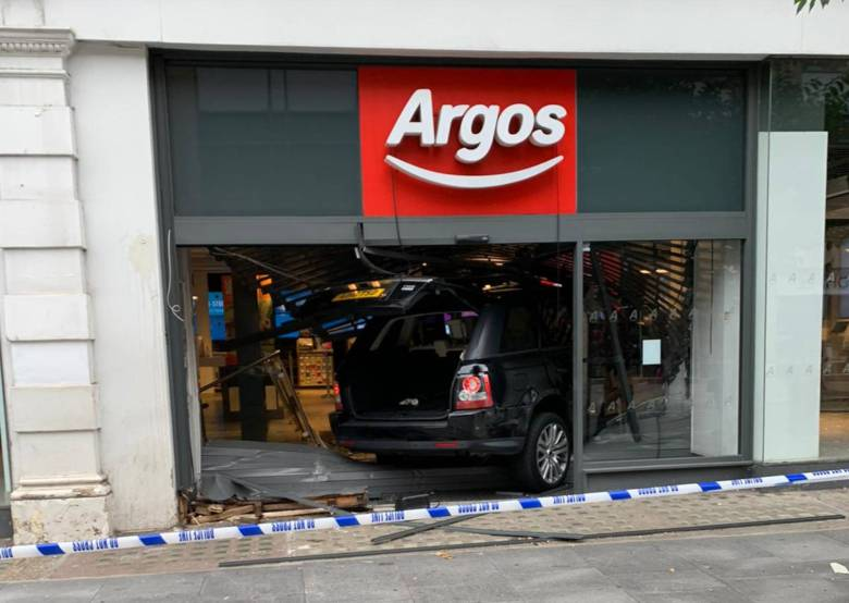 Shopfront in after the crash.