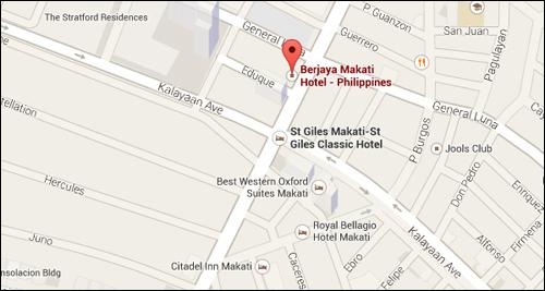 Berjaya Hotel Map