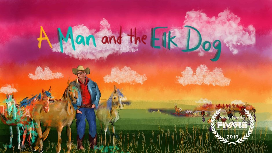The Man and the Elk Dog