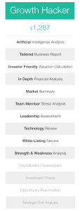 Five23 - Growth Hacker - Pricing Table - Startup Business Reports - Valuations Caluclations
