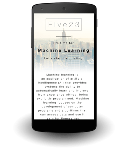 Artificial Intelligence - Machine Learning - Five23 - Nexus 5