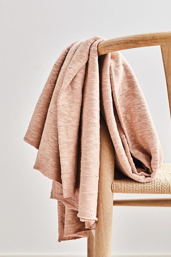 Mind the Maker Organic Slub Jacquard Knit -- Rose