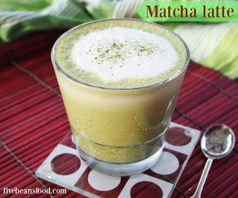 Matcha latte, home made with matcha, sugar, water and frothy milk