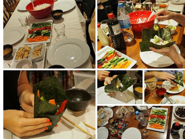 Temaki sushi party