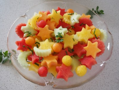 So many varieties of melon available these days, perfect to turn into a star studded fruit salad