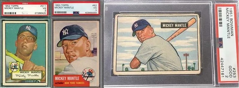 Mickey Mantle And His Best Baseball Cards Fivecardguys