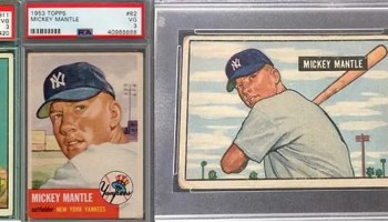 Iconic Mickey Mantle Psa Graded Rookie Card Up For Auction