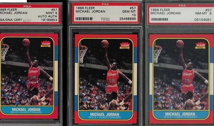 6af8f7fe3b3 Plenty of iconic Michael Jordan Fleer rookie card (PSA Graded) up for  auction today