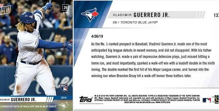 Topps Now Archives Fivecardguys