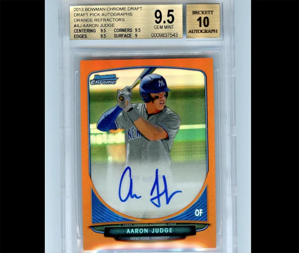 Aaron Judge orange refractor