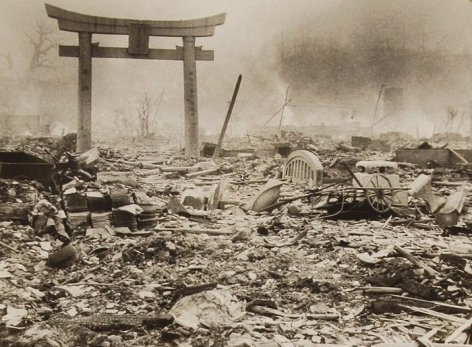 BNPS.co.uk (01202 558833) Pic: RRAuctions/BNPS Haunting photographs taken the day after Nagasaki was hit with an atomic bomb have emerged 70 years after being confiscated by American forces. The collection of poignant images taken by Yosuke Yamahata, a Japanese military photographer, show the flattened landscape, mass death and desperate plight of survivors immediately following the nuclear blast. Yamahata was tasked with documenting the destruction for propaganda purposes and arrived at the scene just 12 hours later. His photographs, which became iconic after featuring in a 1952 edition of Life Magazine, are considered the most complete record of the attack's aftermath. However some were confiscated by an unidentified US military policeman in the months that followed, never to be seen again until now. The lot is being sold by RR Auction in the USA on Sunday, September 25.