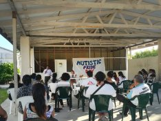 A combined MSF and Nauru Public Health event for Autistic Pride Day. At the Nauru Public Health Centre.