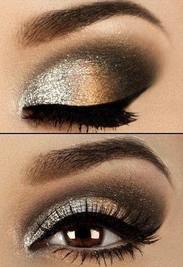 metallic smokey eye