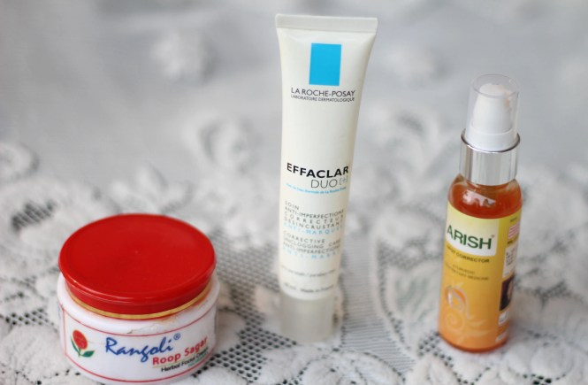 top 3 products for acne prone skin