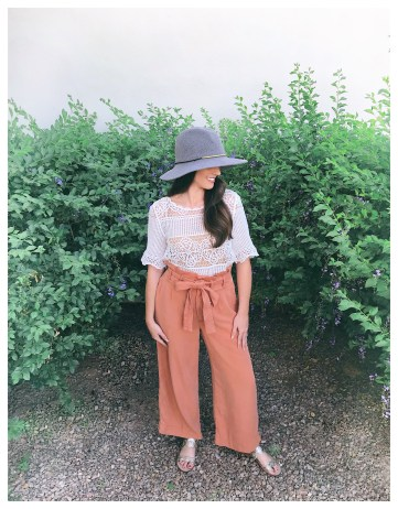 Five Foot Feminine Orange Petite Pants
